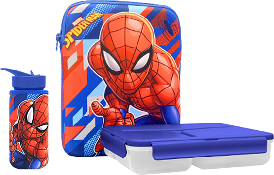 Spiderman Tiffin & Bottle